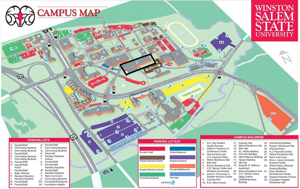 Salem State Campus Map Wssu Campus Map | Earth Map